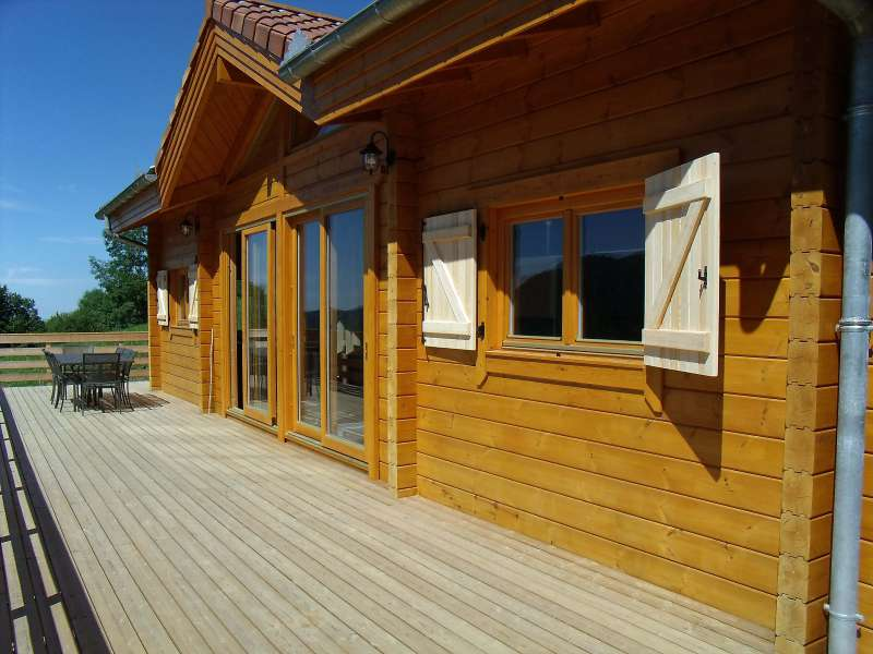 Maison bois sur sous sol am nag sarl ambiances bois concepts for Construction bois 93