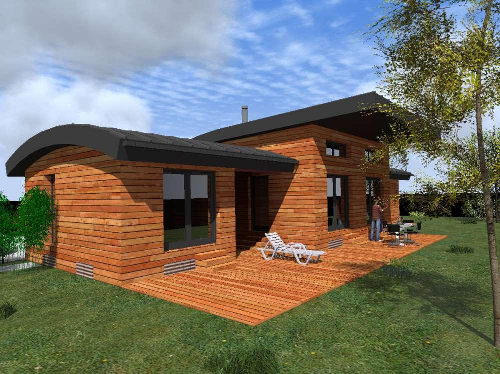 Maisons style contemporain sarl ambiances bois concepts for Construction bois 93